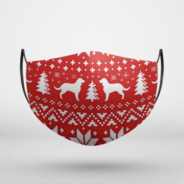 American Water Spaniel Dog Ugly Christmas Face Mask