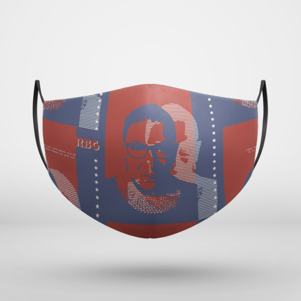 RBG RUTH BADER GINSBURG Notorious Rbg feminism Poster Supreme court Face Mask