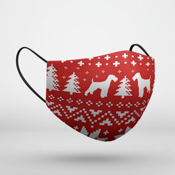 Airedale Terrier Ugly Christmas Face Mask