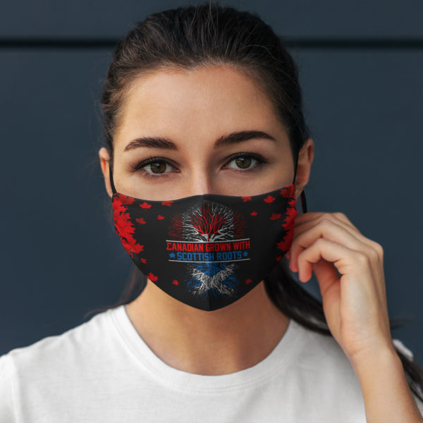 Canadian Grown with Scottish Roots Face Mask