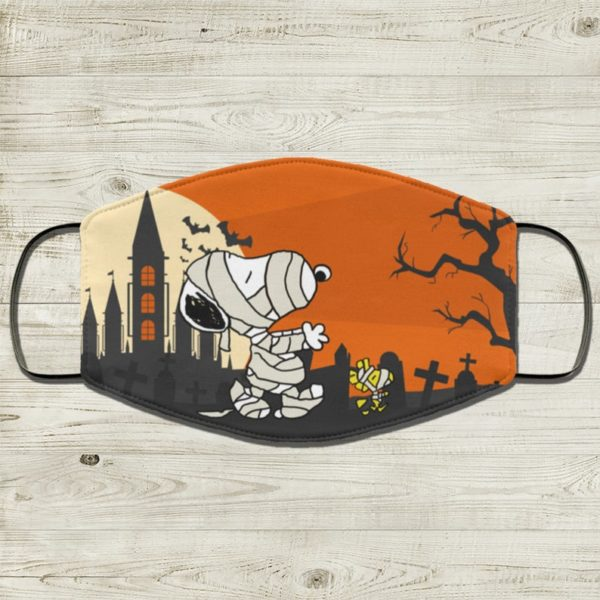 Halloween Snoopy Wood Stock Face Mask