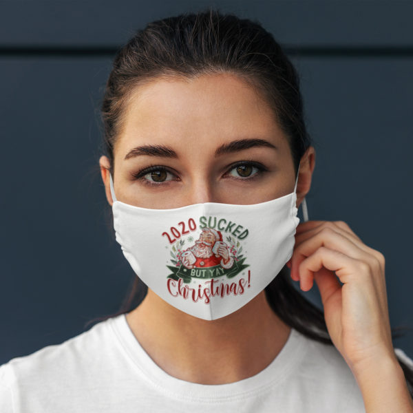 2020 Sucked But Yay Christmas Santa Claus Face Mask