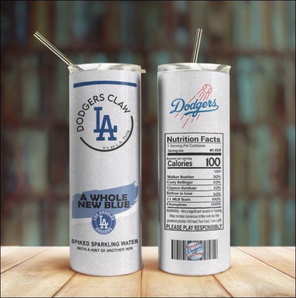 Dodgers Claw Skinny Tumbler 20oz 30oz
