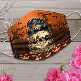 Skull Salty Lil' Witch Halloween Face Mask