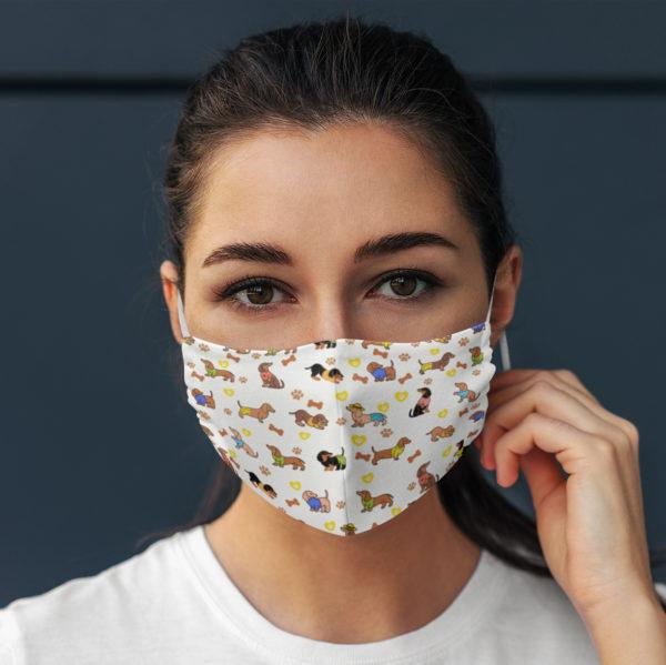 Dachshund Cute Pattern Face Mask
