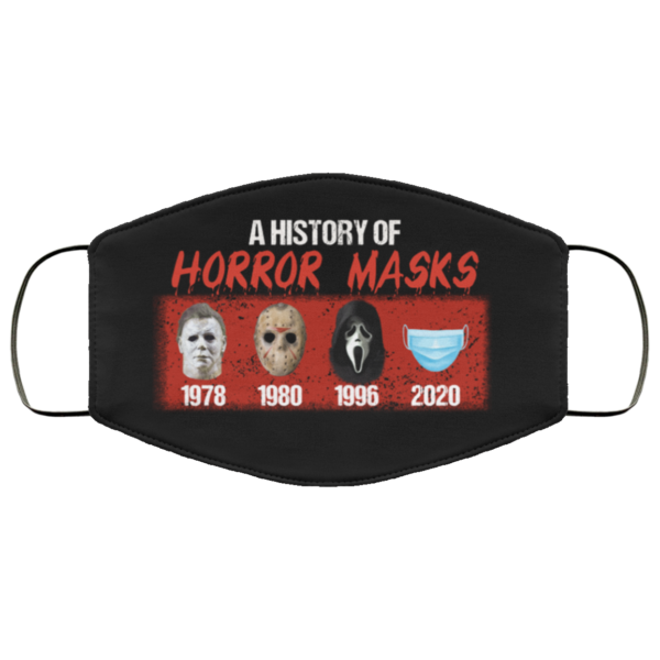 A History of Horror Masks Face Mask