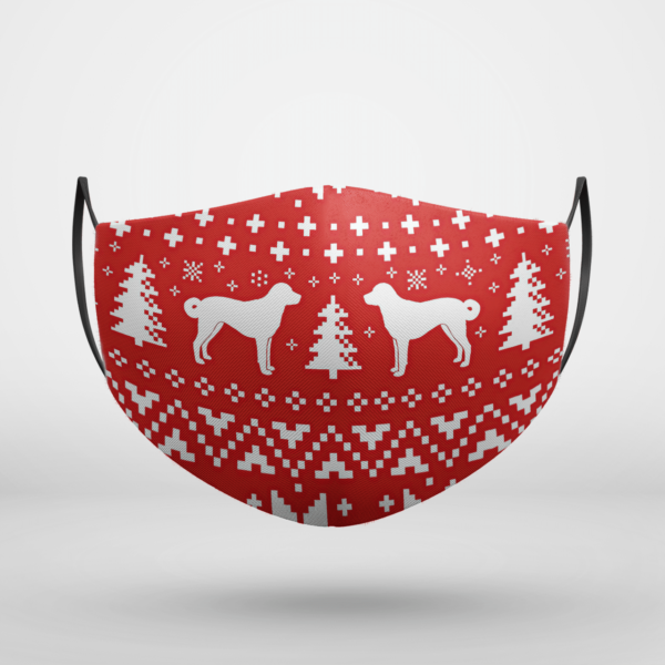 Anatolian Shepherd Dog Ugly Christmas Face Mask