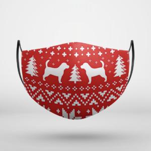 Beagle Dog Ugly Christmas Face Mask