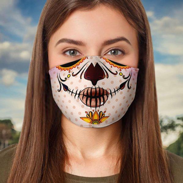 Day of the Dead Calavera Sugar Skull Face Mask
