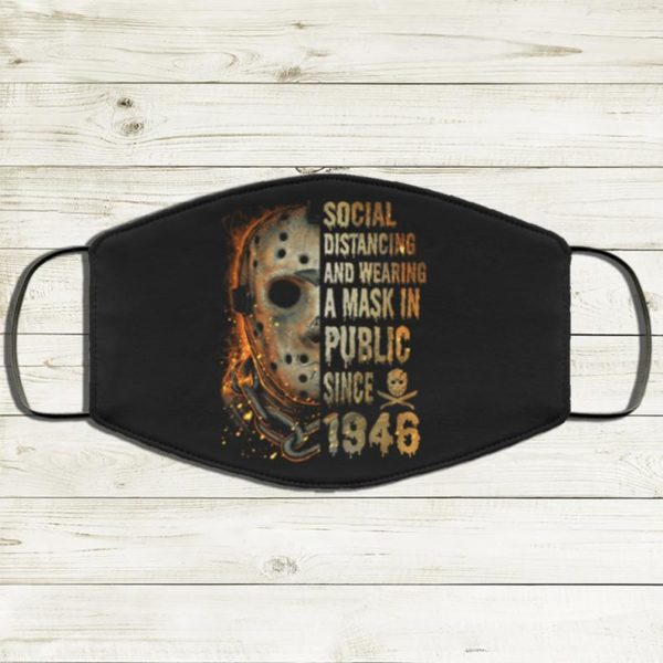 Jason Voorhess Social Distancing And Wearing A Mask In Public Since 1946 Face Mask