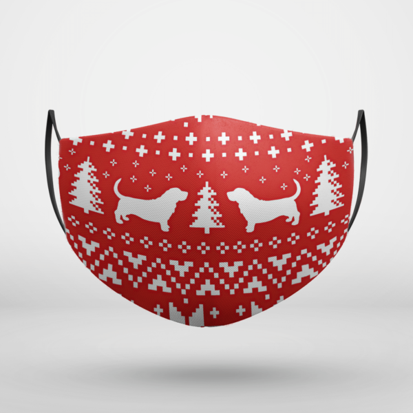 Basset Hound Dog Ugly Christmas Face Mask