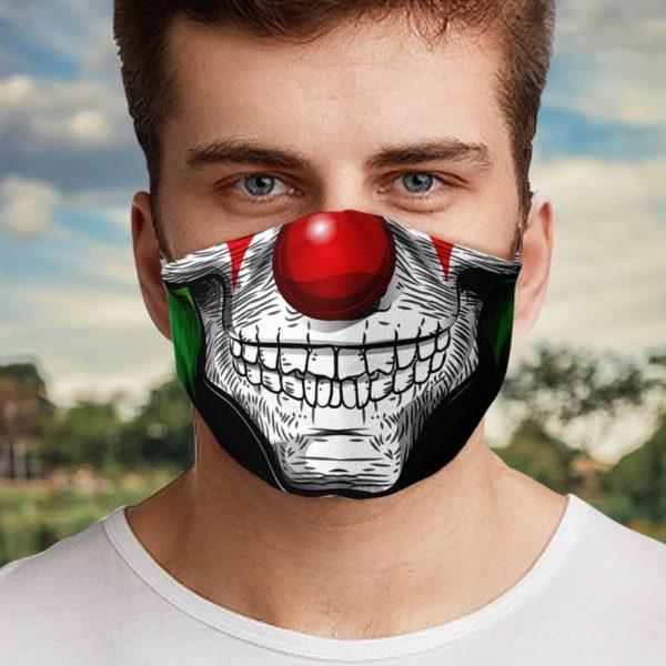 Clown Skull Halloween Face Mask