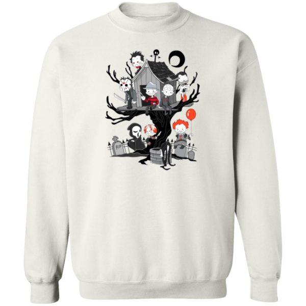Horror Friends Halloween T-Shirt, LS