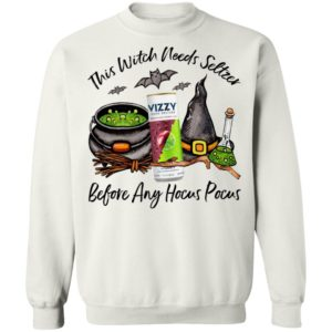 Vizzy Black Cherry Lime This Witch Needs Seltzer Before Any Hocus Pocus Halloween T-Shirt