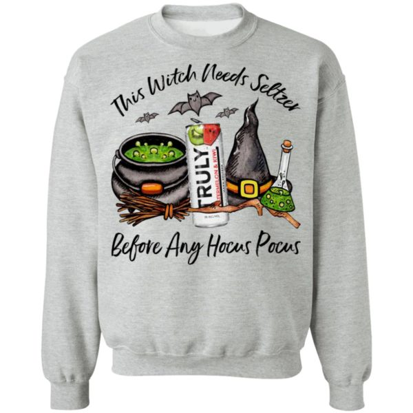 Truly Waterlemon Kiwi This Witch Needs Seltzer Before Any Hocus Pocus Halloween T-Shirt