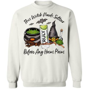 Truly Lime This Witch Needs Seltzer Before Any Hocus Pocus Halloween T-Shirt
