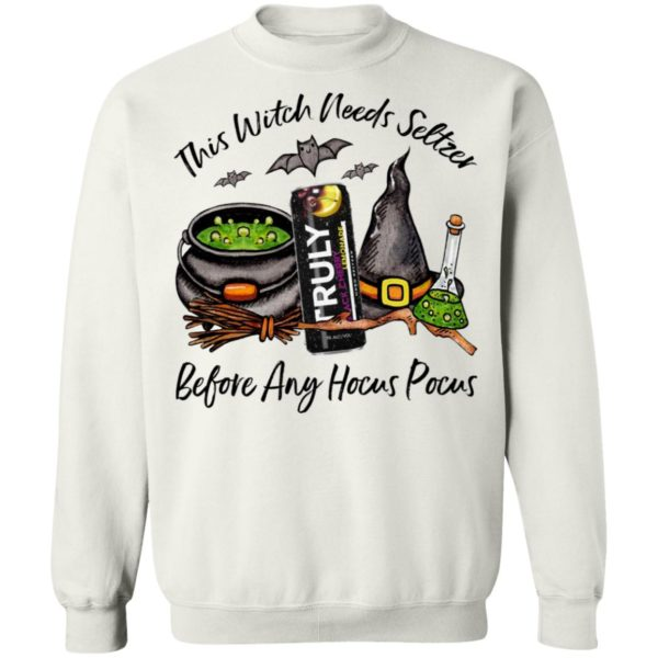 Truly Blackcherry Lemonade This Witch Needs Seltzer Before Any Hocus Pocus Halloween T-Shirt
