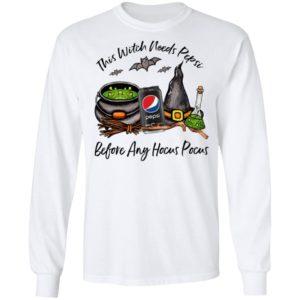 This Witch Needs Pepsi Zero Before Any Hocus Pocus Halloween T-Shirt