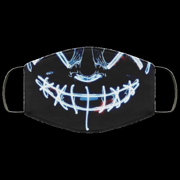 White Anroll Halloween Mask LED Light Up Face Mask