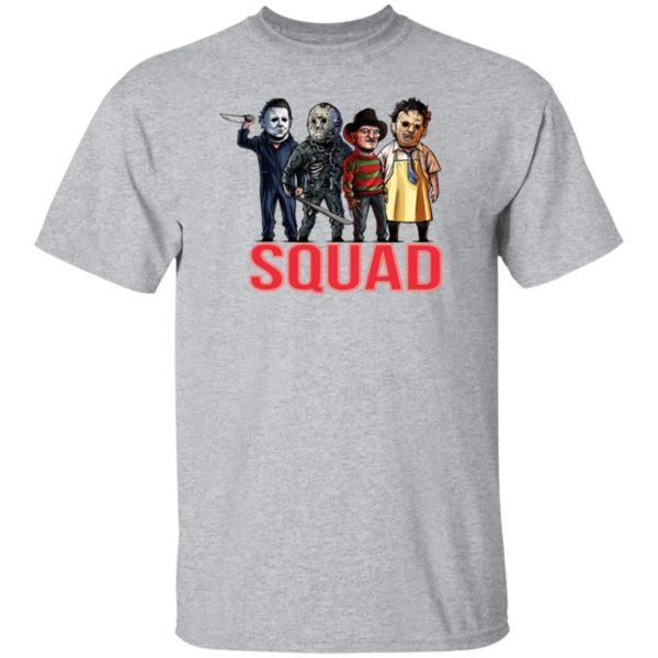 Horror Squad Goals Halloween T-Shirt, Long Sleeve, Hoodie