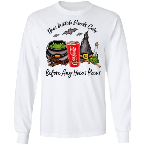 This Witch Needs Coke Before Any Hocus Pocus Halloween T-Shirt