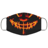 Orange Anroll Halloween LED Light Up Face Mask