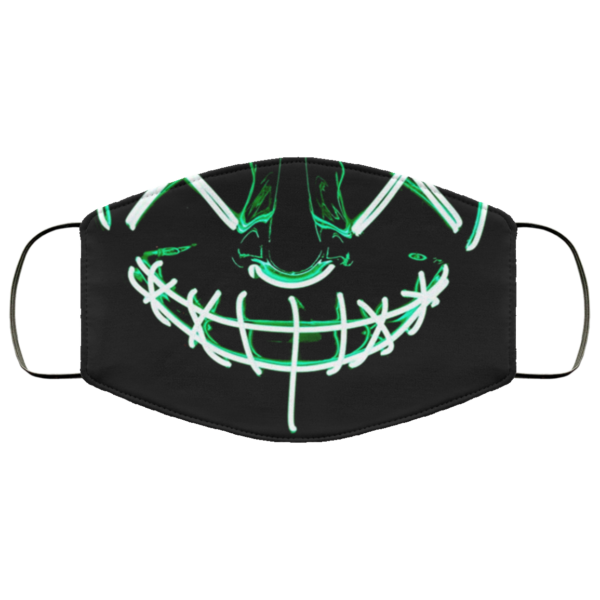 Green Anroll Halloween LED Light Up Face Mask