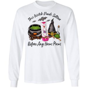 San Juan Raspberry Cran This Witch Needs Seltzer Before Any Hocus Pocus Halloween T-Shirt