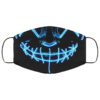 Blue Anroll Halloween LED Light Up Face Mask