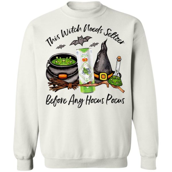 San Juan Fuji Apple This Witch Needs Seltzer Before Any Hocus Pocus Halloween T-Shirt