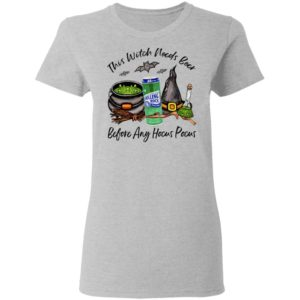 Rolling Rock Can This Witch Needs Beer Before Any Hocus Pocus Halloween T-Shirt