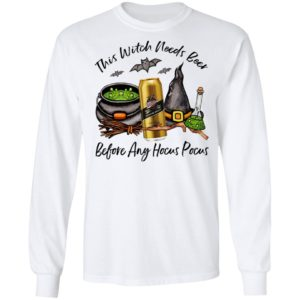 Miller Genuine Draft Can This Witch Needs Beer Before Any Hocus Pocus Halloween T-Shirt