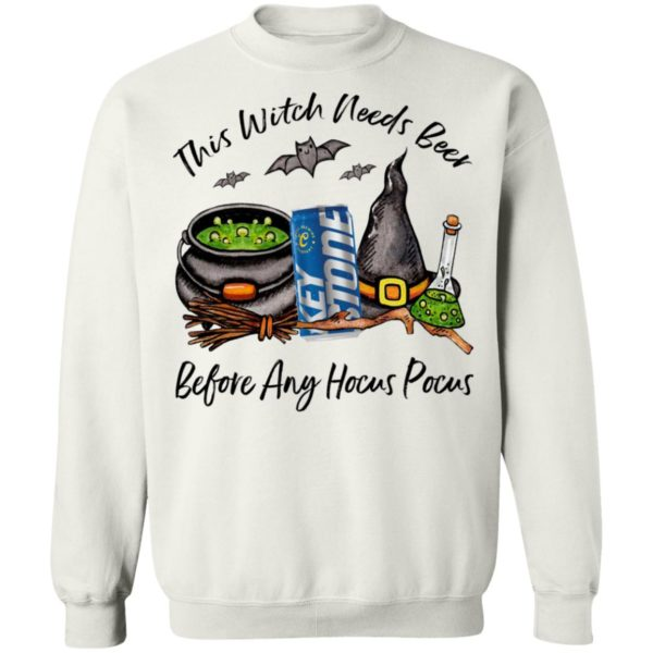Keystone This Witch Needs Beer Before Any Hocus Pocus Halloween T-Shirt