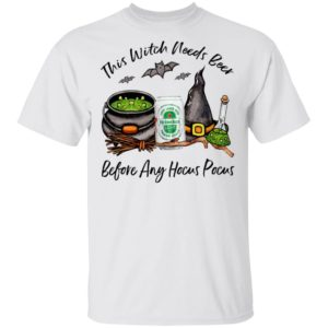 Heineken Light Can This Witch Needs Beer Before Any Hocus Pocus Halloween T-Shirt