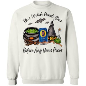 Foster_s Classic This Witch Needs Beer Before Any Hocus Pocus Halloween T-Shirt
