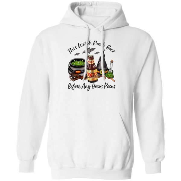 Dos Equis XX Amber Bottle This Witch Needs Beer Before Any Hocus Pocus Halloween T-Shirt