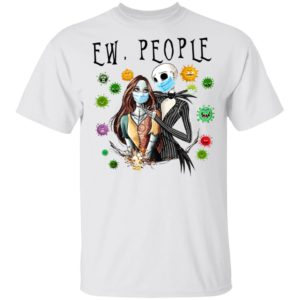 Jack and Sally Love Wearing Facemask T-Shirt