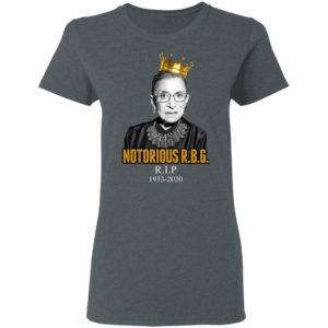 Notorious RBG Ruth Bader RIP 1933 2020 T-Shirt, LS, Hoodie