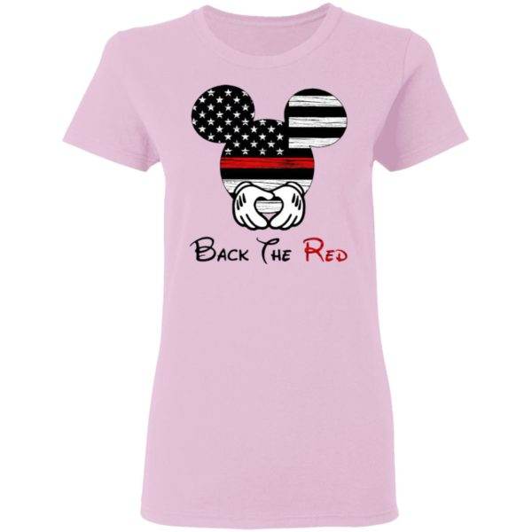 Mickey Mouse Back The Red American Flag T-Shirt