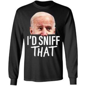 Id Sniff That Anti Joe Biden Tshirt Funny Parody T-Shirt