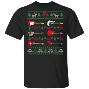 Guitar Ugly Christmas Guitarist T-Shirt