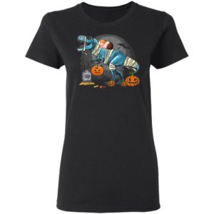 Guinea Pig Riding Mummy T Rex Dino Funny Halloween Costume T-Shirt