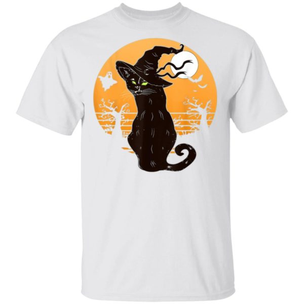 Retro Halloween Black Cat T-Shirt