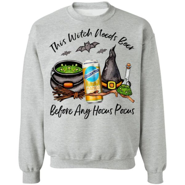 Belgian Moon Mango Can This Witch Needs Beer Before Any Hocus Pocus Shirt
