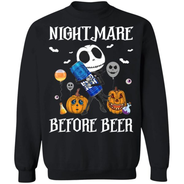 Jack Skellington Nightmare Before Bug Light Beer Halloween Shirt