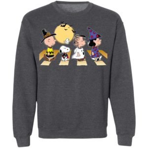 Halloween Charlie Snoopy Linus Lucy Abbey Road Walk T-Shirt