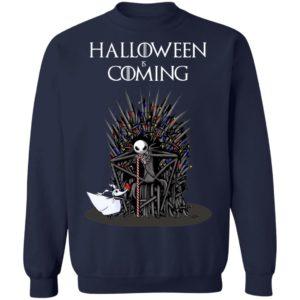 Game Of Thrones Jack Skellington Halloween Is Coming T-Shirt
