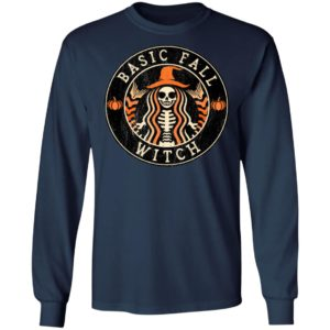 Halloween Basic Fall Witch Starbucks T-Shirt