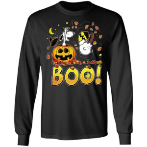 Boo Happy Halloween Charlie Brown Woodstock And Snoopy T-Shirt