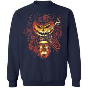 Alternative Universe Scary Pumpkin Head Lantern Halloween T-Shirt